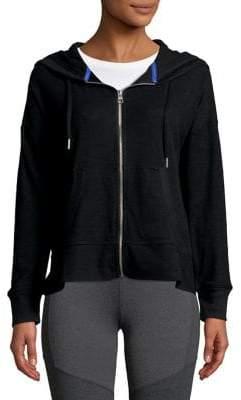 Calvin Klein Ruffled Full-Zip Hoodie