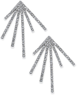 INC International Concepts Silver-Tone Pavé Starburst Post Earrings, Only at Macy's $29.50 thestylecure.com
