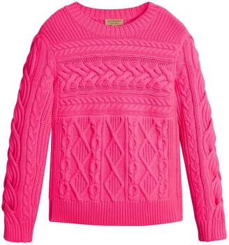 Burberry Aran Knit Wool Cashmere Sweater