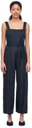 Rebecca Taylor Striped Suiting Jumpsuit