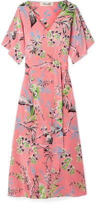 Diane von Furstenberg - Floral-print Silk Crepe De Chine Wrap Dress - Pink