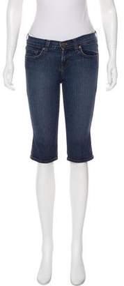 J Brand Knee-Length Denim Shorts