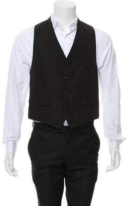 Band Of Outsiders Woven Button-Up Suit Vest
