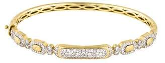 Jude Frances 18K Diamond Moroccan Long Pavé Bracelet