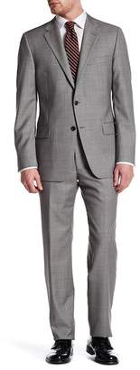 Hickey Freeman Gray Sharkskin Two Button Notch Lapel Wool Classic Fit Suit $1,495 thestylecure.com