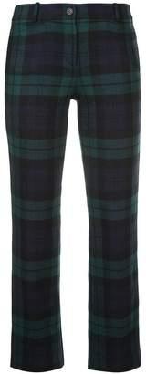 Michael Kors tartan flannel cropped trousers