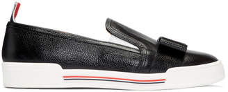 Thom Browne Black Bow Slip-On Sneakers