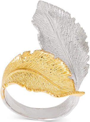 Giani Bernini Two-Tone Leaf Wrap Ring in Sterling Silver & 18k Gold-Plate