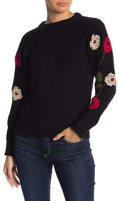 Lucky Brand Embroidered Rib Knit Pullover