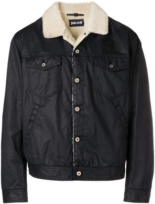 Just Cavalli shearling-lined denim jacket