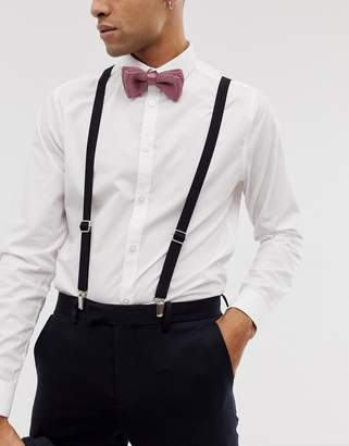 Twisted Tailor suspenders in black