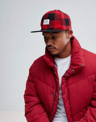 Pull&Bear Snap Back In Red Check