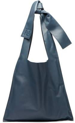 Loewe Bow Oversized Nappa Leather Tote Bag - Womens - Blue