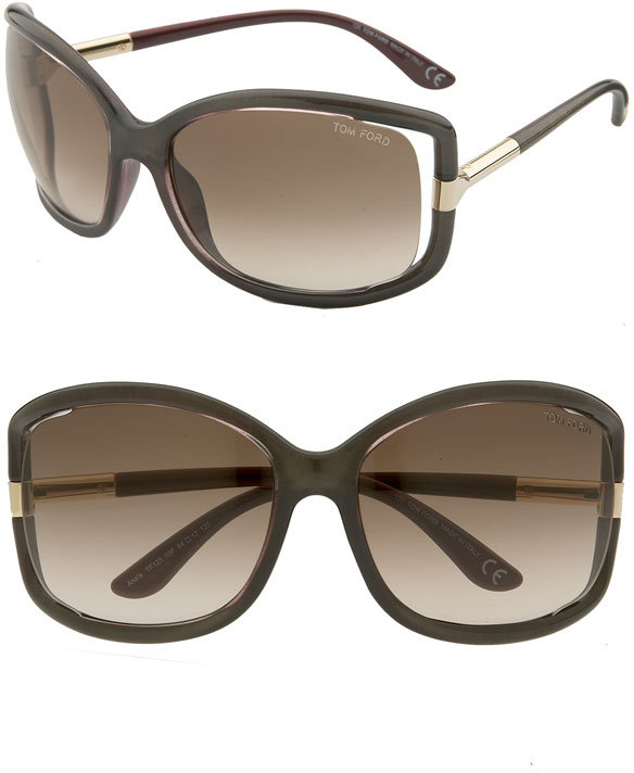 Tom Ford 'Anais' Open Temple Sunglasses
