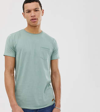Brave Soul Tall raw edge t-shirt