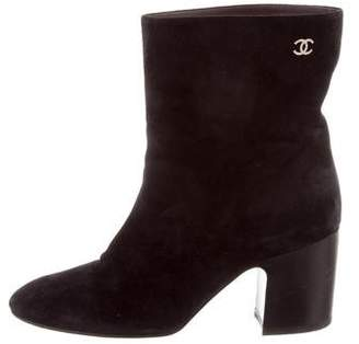 Chanel Pointed-Toe Ankle Boots