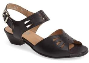 Fidji 'V112' Perforated Leather Sandal