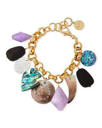 Mother of Pearl NEST Jewelry Mother-of-Pearl & Amethyst Charm Bracelet