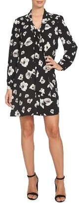 Women's Cece Floating Flower Bells Tie Neck Dress $139 thestylecure.com