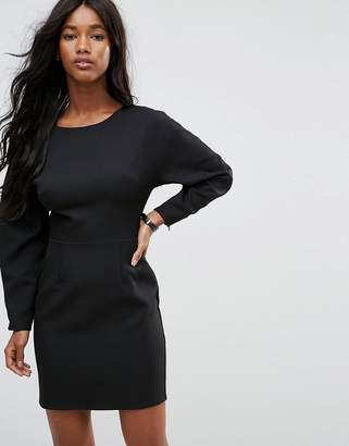 Asos DESIGN 80s Clean Dome Sleeve Mini Pencil Dress