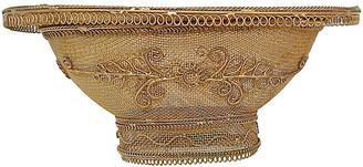 One Kings Lane Vintage Gilt Brass Wire Basket - Vermilion Designs