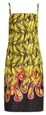 Prada Women's Banana Slip Dress - Yellow/Nero - Size 40 (4)