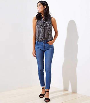 LOFT Sustainable Style Slim Pocket High Rise Skinny Jeans