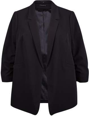 Dorothy Perkins Womens **Dp Curve Black Ruched Sleeve Blazer