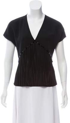 Alexander Wang Fringed V-Neck Top