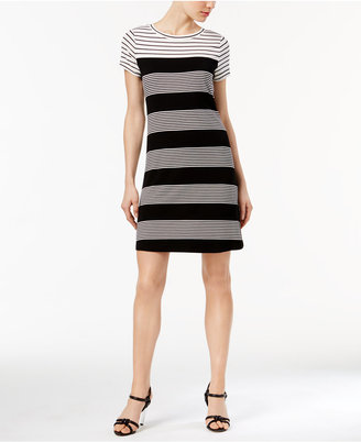 Calvin Klein Mixed-Stripe T-Shirt Dress $89.50 thestylecure.com