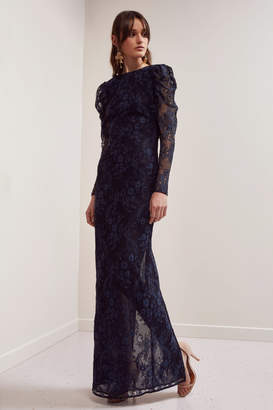 Keepsake HOLD ON LACE GOWN navy