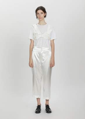 Phoebe English Shifted Seam Crop Trousers Ivory