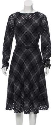 Oscar de la Renta Virgin Wool Midi Dress