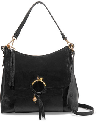 See by Chloé - Joan Suede-paneled Leather Shoulder Bag - Black $530 thestylecure.com