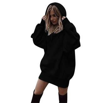 8d034599d379d Amzeca Women Fashion Clothes Hoodies Pullover Coat Hoody Sweatshirt Casual  Tunic Tops Novelty Hoodies Fashion Sweaters