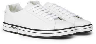 Prada Logo-Detailed Leather Sneakers