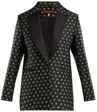 ALEXACHUNG Single Breasted Floral Jacquard Blazer - Womens - Black Multi