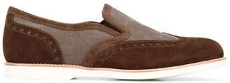 Santoni contrast loafers