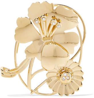 Gold-plated Crystal Ear Cuff