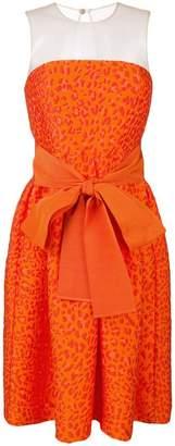 P.A.R.O.S.H. leopard-cloqué cocktail dress