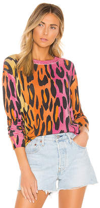 Autumn Cashmere Printed Ombre Leopard Crew
