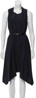 Marni Sleeveless Asymmetrical Dress Navy Sleeveless Asymmetrical Dress