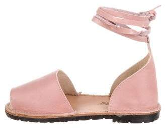 Tocoto Vintage Girls' Leather Peep Toe Shoes w/ Tags
