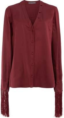 Alexander McQueen fringed sleeve blouse