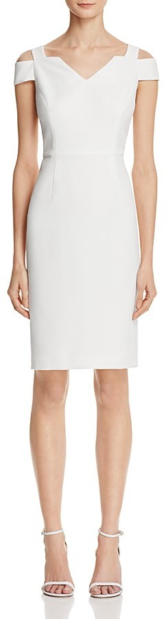 Adrianna PapellAdrianna Papell Cold-Shoulder Crepe Dress