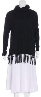 MICHAEL Michael Kors Fringe-Accented Turtleneck Sweater