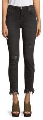 Free People Great Heights Frayed Skinny Jeans