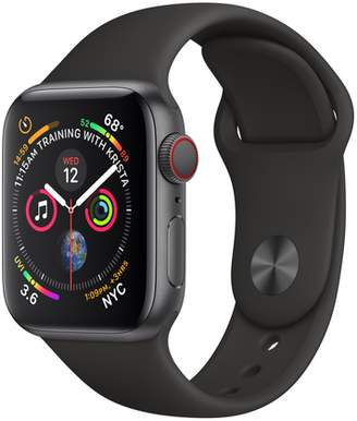 Apple AppleWatch Series4 GPS+Cellular, 40mm Space Gray Aluminum Case with Black Sport Band