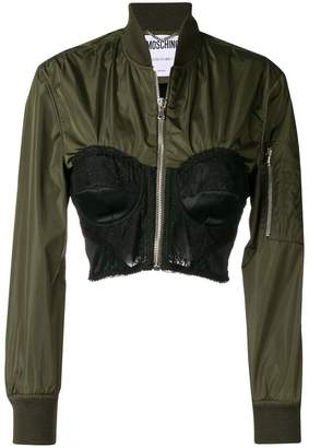 Moschino bustier zipped jacket