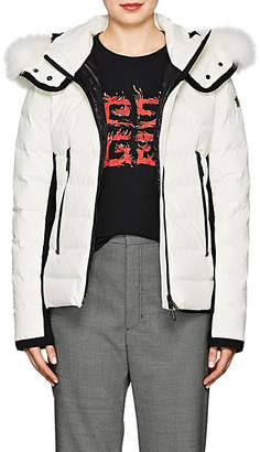 Moncler Women's Lamoura Tech-Crepe Puffer Coat - White